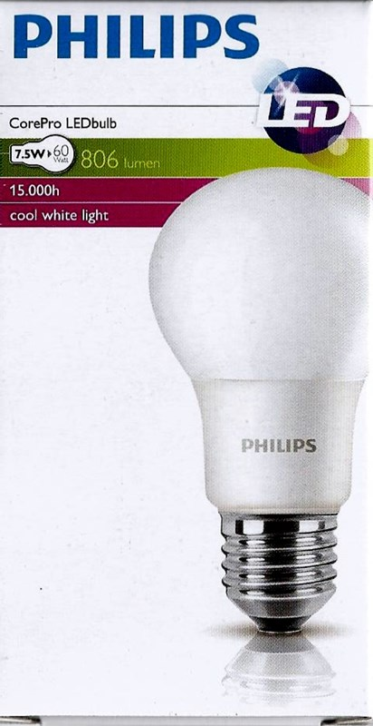 Philips LED CLA75 10W E27 Studená  4000K