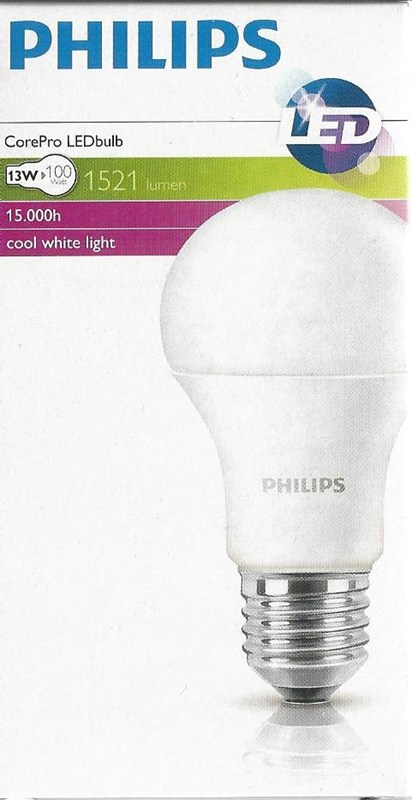 Philips LED CLA100 13W  E27 Studená  4000K
