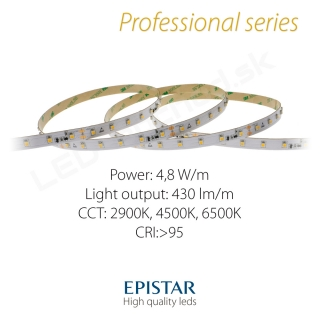 LED pás Professional Constant current IC 4,8W/m 60LED/m CRI97