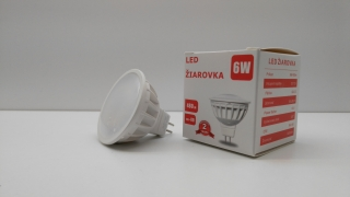 6W LED žiarovka HV série BASIC - MR16 (NW)