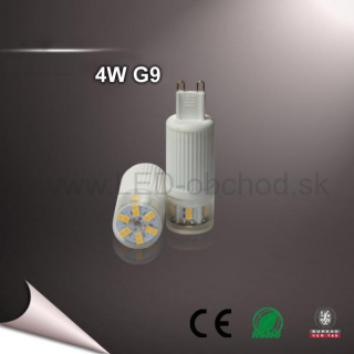 4W Led žiarovka - G9 (WW,NW)