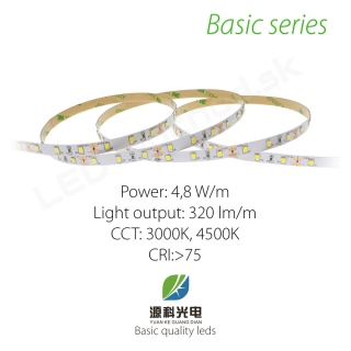LED pásik BASIC series 4,8W/12V, 60 LED/m 2835