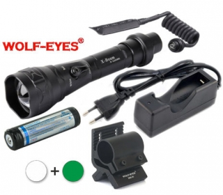 LED Baterka Wolf-Eyes X-Beam Biela XP-L HI V2 v.2 2017 + Zelená LED Full Set