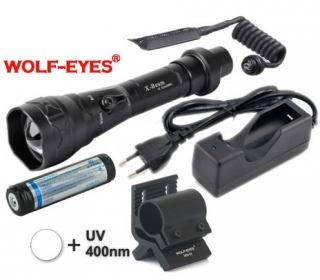 LED Baterka Wolf-Eyes X-Beam Biela XP-L V5 v.2 2017 + UV400 LED Full Set