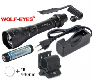 LED Baterka Wolf-Eyes X-Beam Biela + IR940 LED Full Set