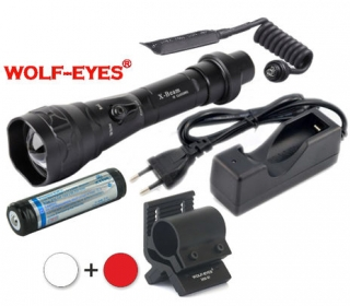 LED Baterka Wolf-Eyes X-Beam Biela XP-L HI V2 2017 + Červená LED Full Set
